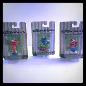 Vintage 2001 Sesame Street Collectibles Figures